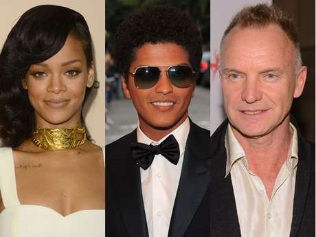 <p>Rihanna, Bruno Mars and Sting will be teaming up for a special performance.</p>