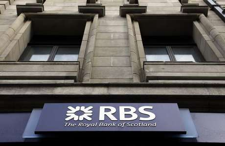 A logo of an Royal Bank of Scotland (RBS) is seen at a branch in London February 23, 2012.