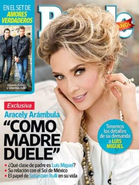 Aracely Arámbula en la nueva edición de People en Español.
