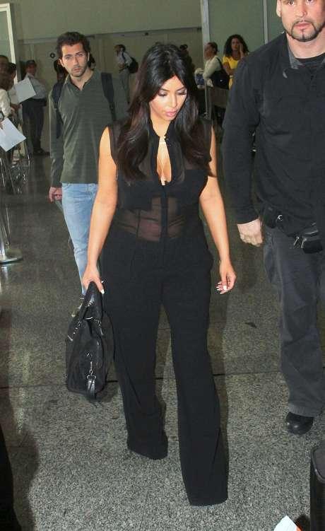 <p>Kim Kardashian llegó al carnaval de Brasil</p>