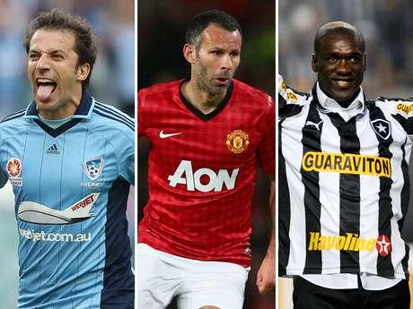 <p>Algunas de las más grandes estrellas del futbol en los años 90 y la de 2000 siguen haciendo lo que más les gusta: jugar al futbol. Terra ha realizado una selección de las más grandes estrellas de los mayores de 36 que aún siguen activos.</p>