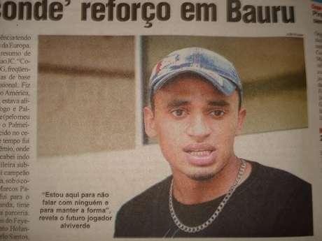 <p>Suposta reportagem de um jornal de Bauru que Rodrigo apresentava</p>