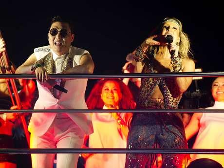 <p>Psy aproveita o Carnaval na companhia de Claudia Leitte</p>