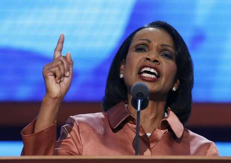 Former Secretary of State Condoleezza Rice speaks during the third session of the Republican National Convention in Tampa, Florida August 29, 2012.