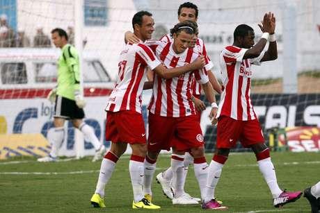 <p>Forl&aacute;n fez dois gols contra Pelotas</p>
