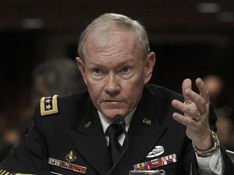 U.S. Army General Martin Dempsey, the Chairman of the Joint Chiefs of Staff, testifies on the Defense Department's response on the attack on U.S. facilities in Benghazi, Libya before the Senate Armed Services Committee hearing in Washington February 7, 2013.