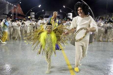 <p>Khawany Costa, 6 anos, brilhou na avenida</p>