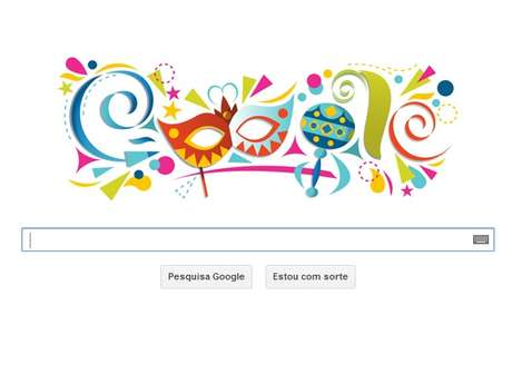 Carnaval é relembrado pelo doodle do Google nesta terça-feira