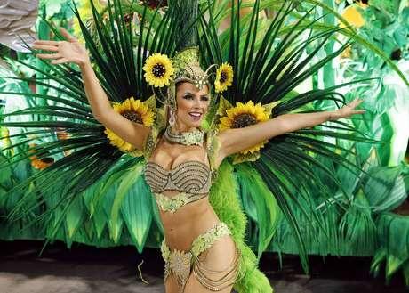 <p>Destaque do desfile da Vila Isabel, uma das favoritas ao título</p>