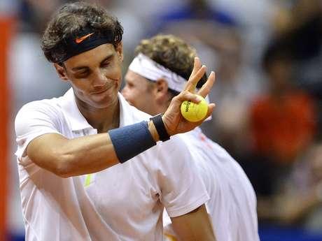 <p>Nadal venceu ao lado de Nalbandiane jogará de novo no torneio de duplas antes de estrear na competição de simples</p>