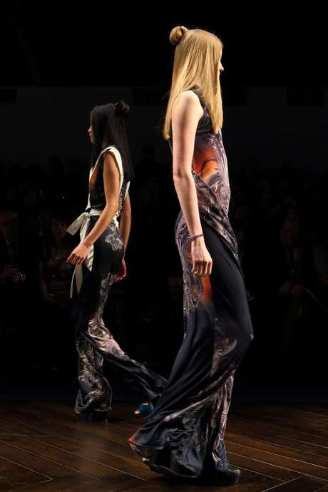 <p>Las creaciones de Jean-Pierre Braganza en su desfile de la Semana de la Moda en Londres.</p>