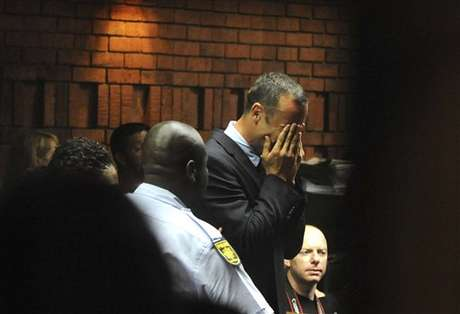 <p>Pistorius wept in court after hearing he would be charged with premeditated murder.</p>