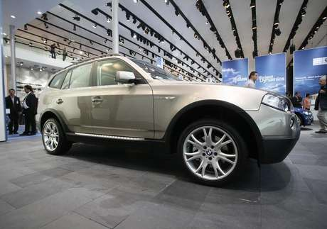 The X5 all terrain car of German carmaker BMW is on display at the international car show IAA in Frankfurt September 12, 2007.