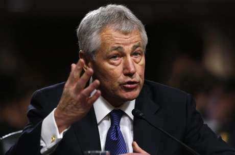 Former U.S. Senator Chuck Hagel (R-NE) testifies during a Senate Armed Services Committee hearing on his nomination to be Defense Secretary, on Capitol Hill in Washington, January 31, 2013. Hagel, 66, is a decorated Vietnam War veteran and a former two-term Republican senator.