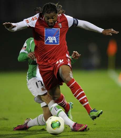 <p>Alan marcou o gol que manteve o Braga em quarto lugar</p>