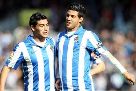 <p>Carlos Vela anotó su décimo gol de la campaña, aunque la Real Sociedad no pudo doblegar al Levante (1-1) en Anoeta.</p>