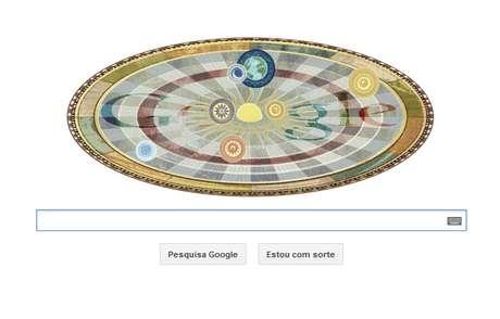 Nicolau Copérnico, astrônomo, é o homenageado pelo doodle do Google nos 540 anos de seu aniversário