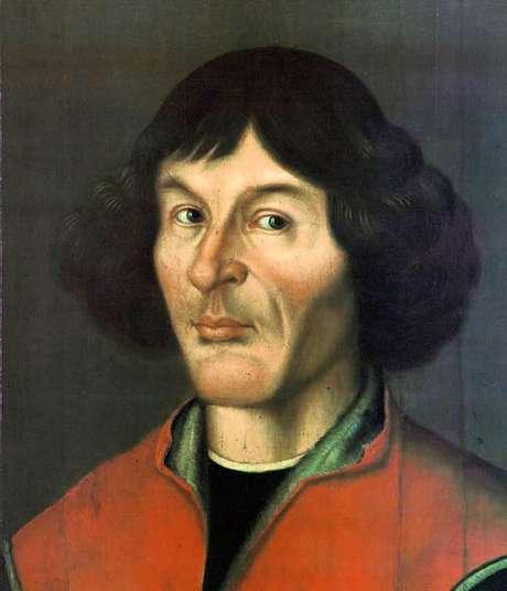 Astrônomo Nicolau Copérnico, em retrato de 1580