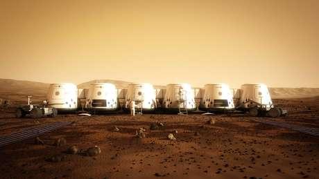 <p>Os 24 astronautas escolhidos passariam a viver nestas estações de 'colonização'</p>