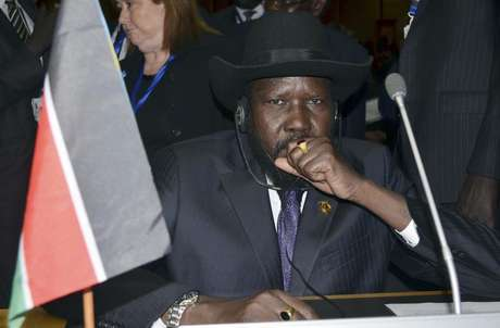 South Sudan's President Salva Kiir attends the opening ceremony of the 20th Ordinary Session of the Assembly of Heads of State and Governments at the African Union (AU) headquarters in the Ethiopian capital Addis Ababa January 27, 2013.