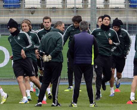Entrenamiento del Real Madrid.