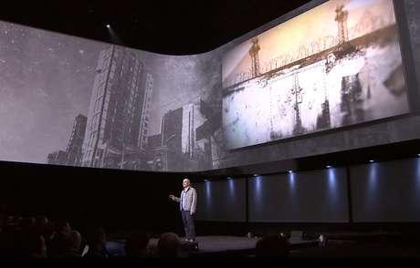 <p>Imagem mostra festa realizada pela Sony, na noite desta quarta, para divulgar lançamento do PS4</p>