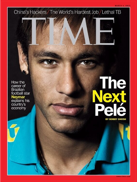 neymar featured on cover of time magazine. Black Bedroom Furniture Sets. Home Design Ideas