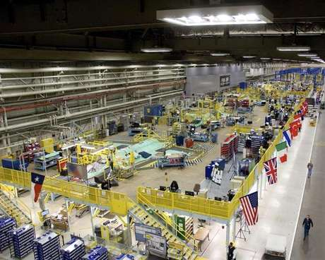 This March 22, 2010 handout image, released May 11, 2011, shows the Lockheed Martin plant in Fort Worth, Texas that builds F-35 fighter jets.