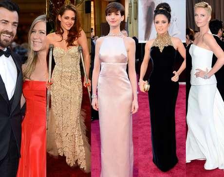 """<p>La alfombra roja de los Oscar 2013 estuvo llena de sorpresas. Esta vez <strong>Jennifer Aniston</strong> confirmó su amor con Justin Theroux, <strong>Anne Hathaway</strong>lució un vestido que dejaba vermás de lo que quería mostrary la estrella de """"Twilight"""", <strong>Kristen Stewart</strong>, llegó en muletas. Mujeres sexys y guapísimos actores engalanaron el """"red carpet""""confirmando lavigencia del clásico glamour de la industria del cine.</p>"""