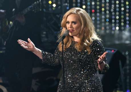 "British singer Adele perfoms the song ""Skyfall"" from film ""Skyfall,"" nominated as best orginal song, at the 85th Academy Awards in Hollywood, California February 24, 2013."