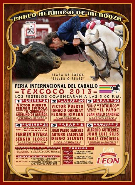 Cartel oficial de la Ferie de Texcoco 2013