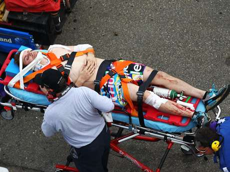 As many as 20 fans at the NASCAR Nationwide race on Saturday were injured from flying debris from a crash.