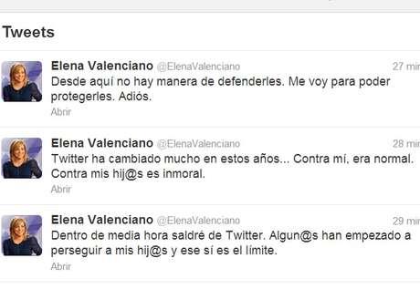<p>Los últimos mensajes de Elena Valenciano</p>