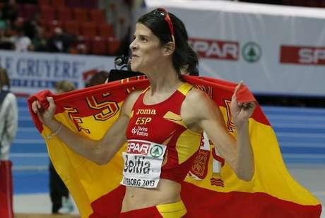 <p>Ruth Beitia, campeona de Europa de salto de altura en los campeonatos en pista cubierta de Gotemburgo.</p>