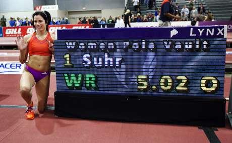 <p>Suhr estabeleceu o novo recorde mundial em pista coberta</p>