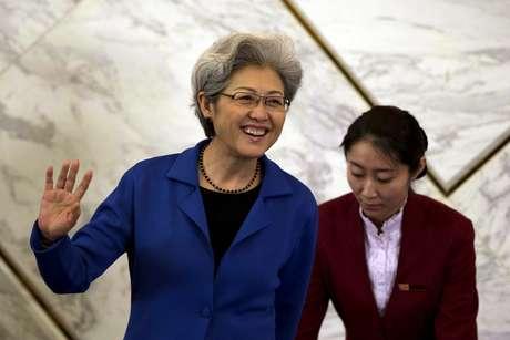 Fu Ying discursou em Pequim nesta segunda-feira