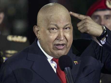 <p>Fotografía del 11 de octubre de 2011 delpresidente de Venezuela, Hugo Chávez.</p>