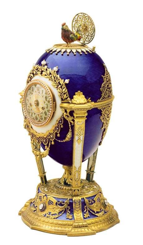 Faberge diseñó un número indeterminado de huevos, no ya imperiales, para personalidades de relieve mundial como Alfred Nobel.