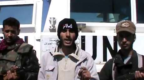 Os supostos sequestradores divulgaram um vídeo no YouTube