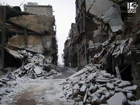 <p>Cena de Homs, uma das cidades mais afetadas pela guerra que se alastrou por toda a Síria</p>