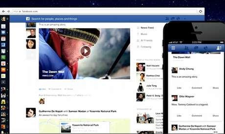Nova interface do News Feed do Facebook valoriza informações visualmente e tem foco na mobilidade
