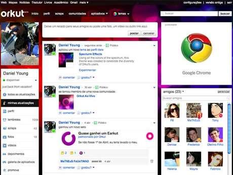 Site de relacionamentos Orkut é popular no Brasil