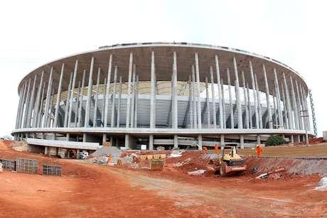 <p>Estádio Nacional passou por vistoria neste domingo</p>