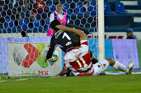 <p>In the 90th minute, Jesus Corona could not block a shot from Franco Arizala, committing an own goal.</p>