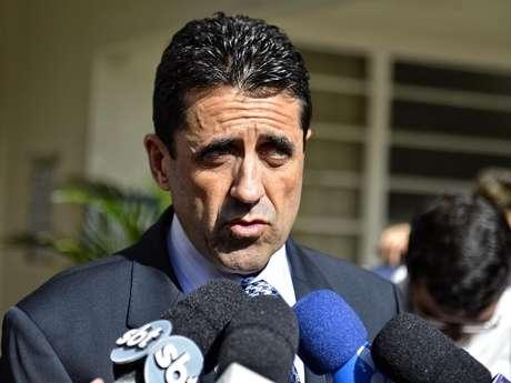 <p>Antonio Olim prestou depoimento no Fórum de Guarulhos e forneceu detalhes da investigação da morte de Mércia</p>