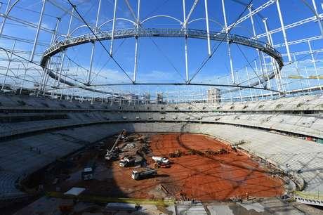 Una panorámica de la Arena Fonte Nova Salvador.