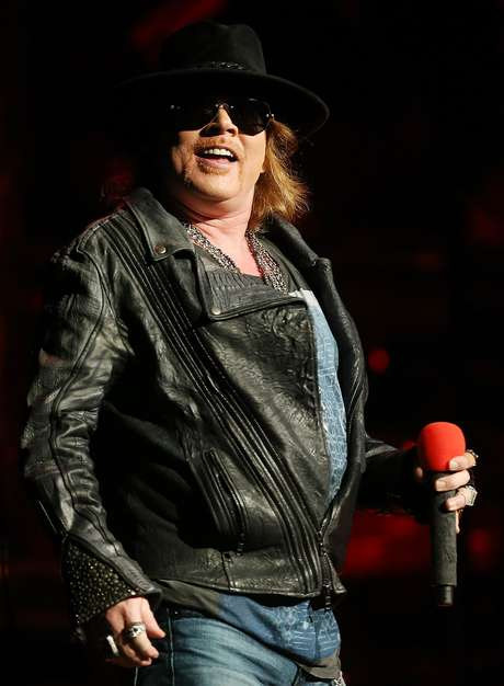 <p>That's one giant gut! But rocker Axl Rose didn't care as he pranced around stage at the Allphones Arena on March 12, 2013 in Sydney, Australia.</p>