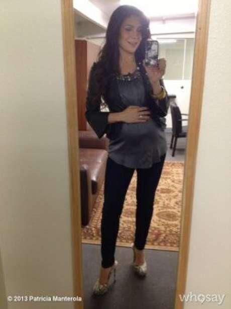 Patricia Manterola felizmente embarazada