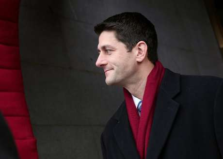 U.S. Rep. Paul Ryan (R-WI) arrives for the Barack Obama second presidential inauguration on the West Front of the U.S. Capitol January 21, 2013 in Washington.