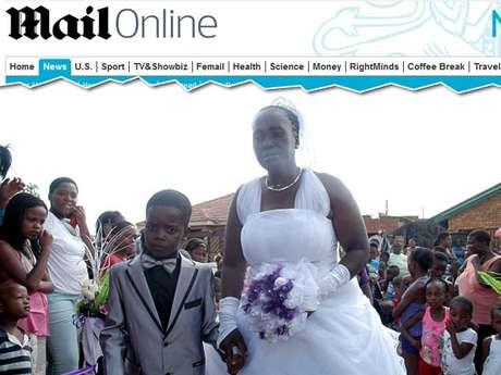Casamento foi feito a pedido do garoto e com consentimento da família